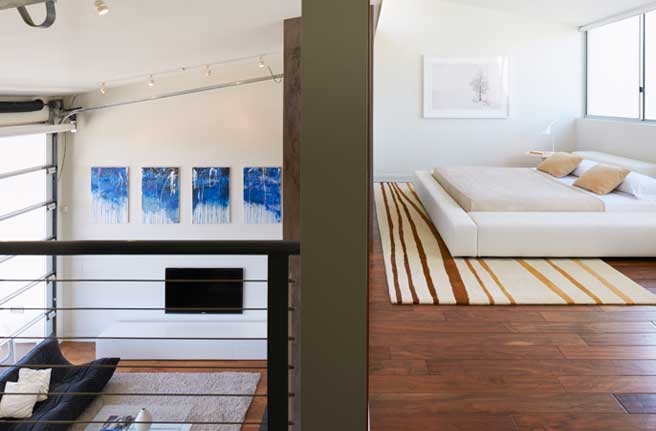 Los angeles interior designer meta interiors for Split master bedroom