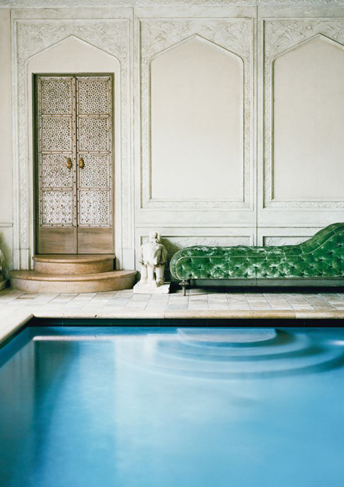 The House: Getty Glamour.  - INDOOR SETTING, DECOR, SWIMMING POOL, pool room
